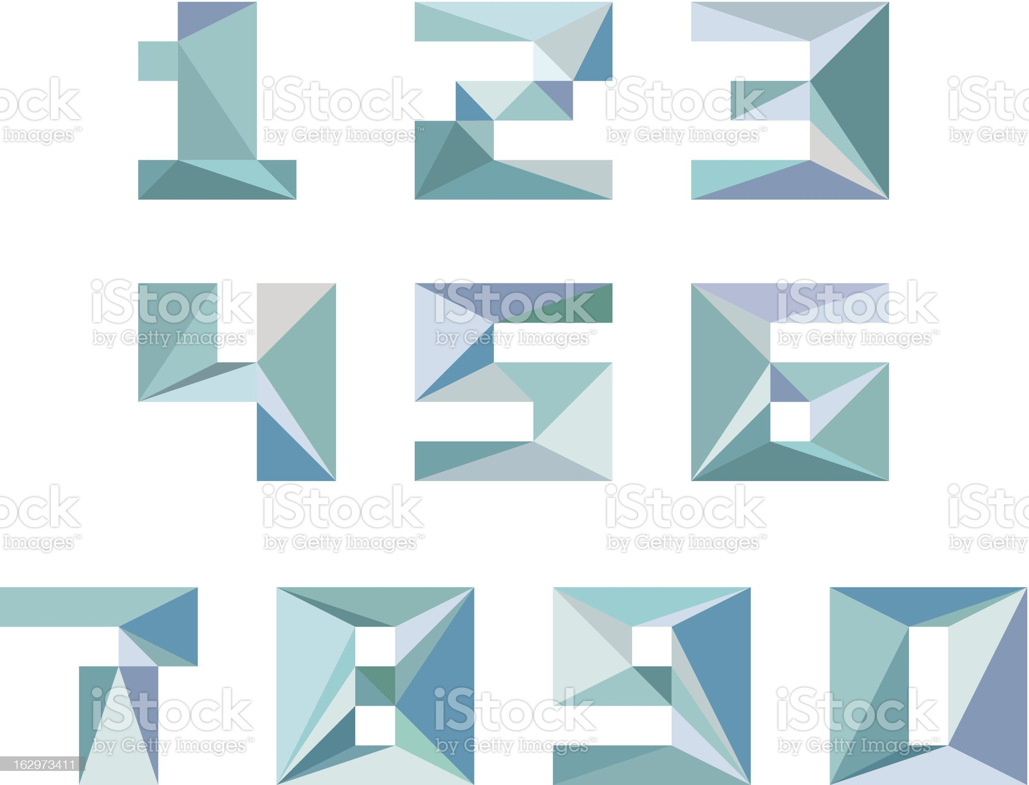 Number 1234567890 royalty-free stock vector art