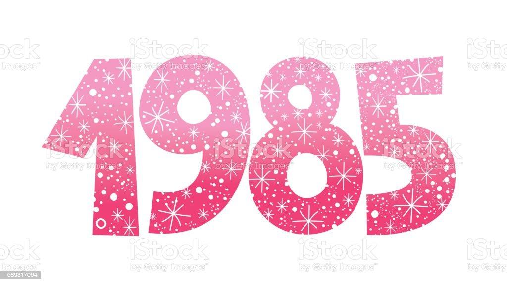 number 1985 vector art illustration