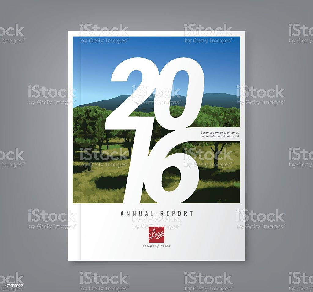Number 2016 typography on abstract background for business annual report vector art illustration