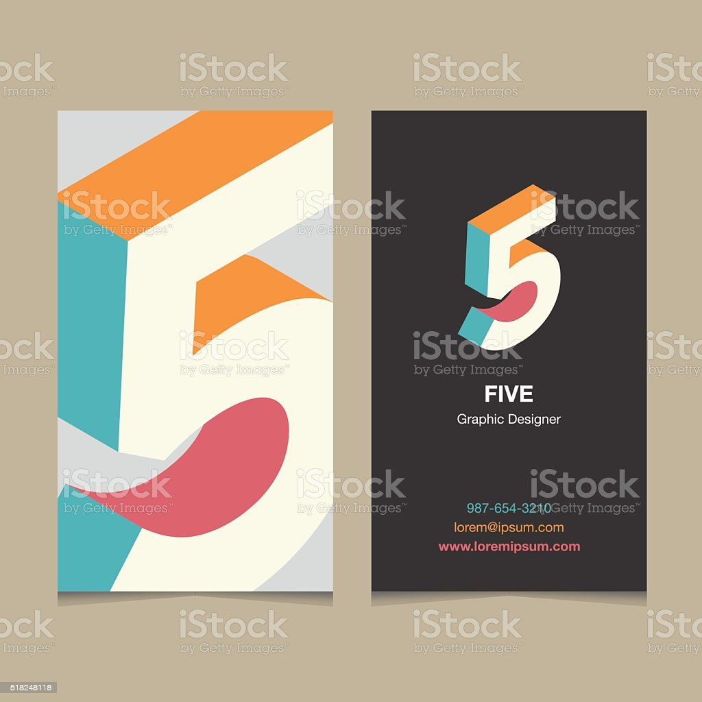 number '5' vector art illustration