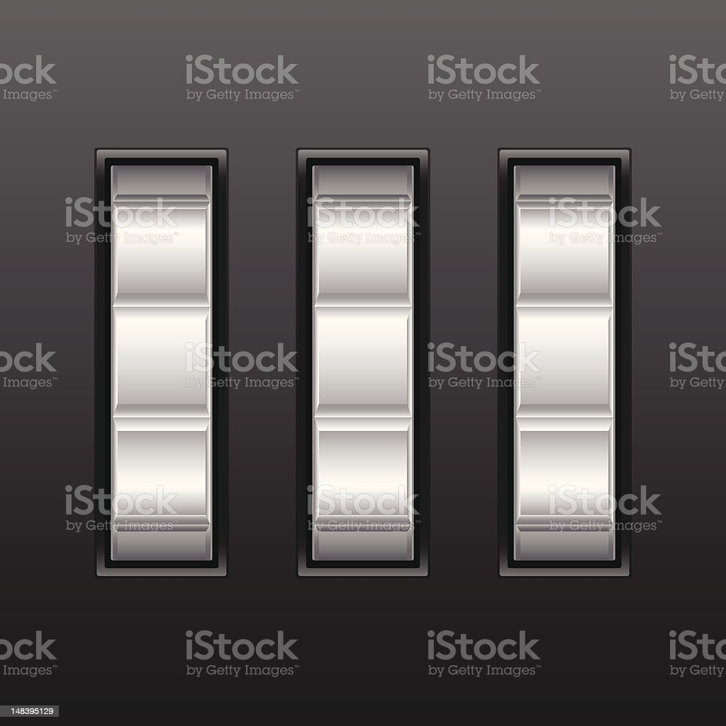 number combination lock royalty-free stock vector art