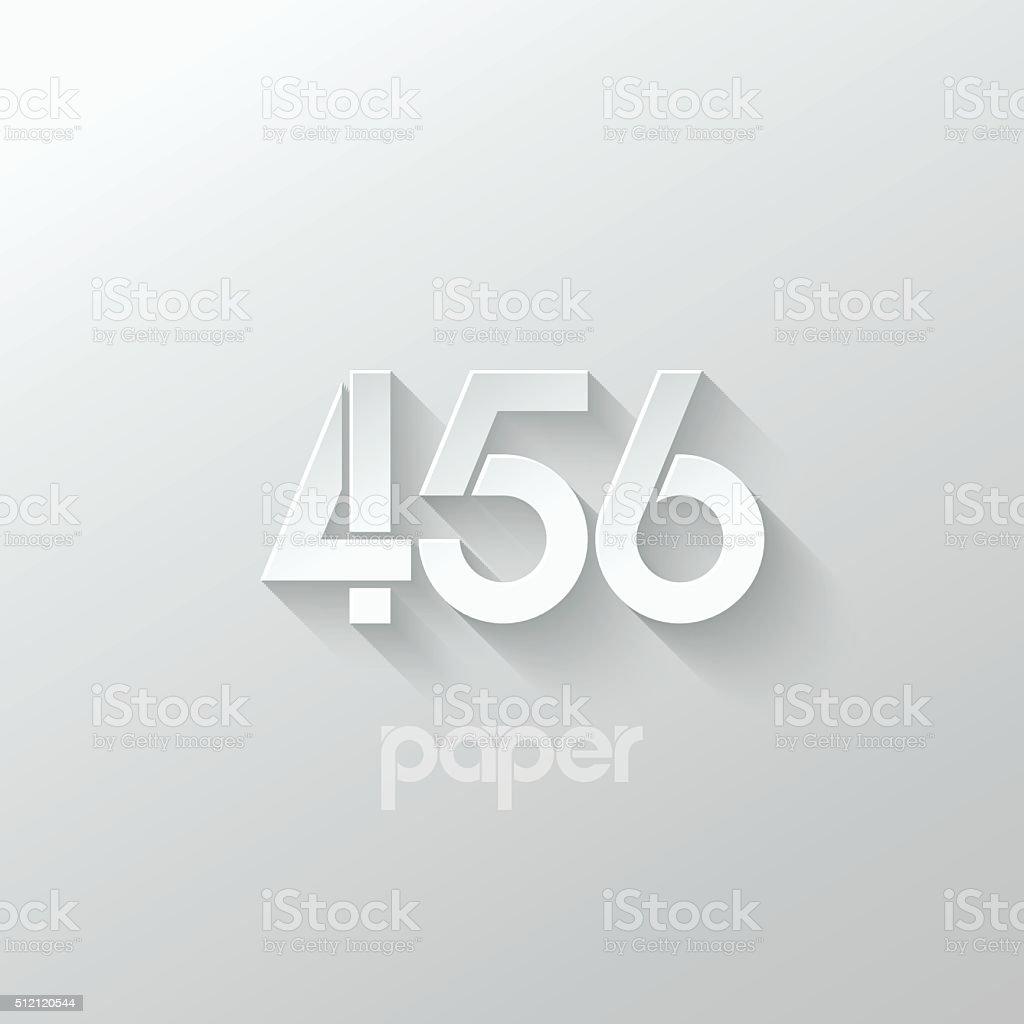 number four 4 five 5 six 6 logo paper set vector art illustration