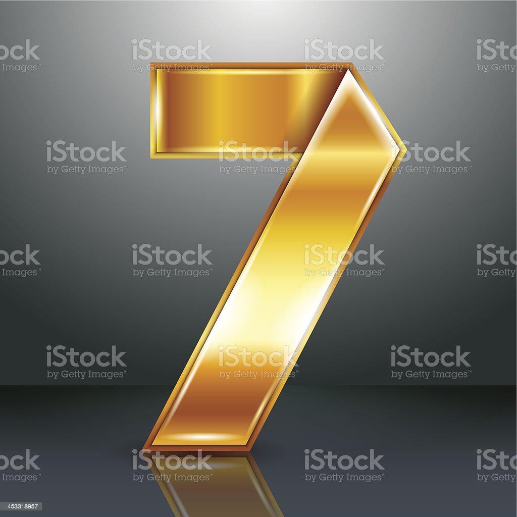 Количество металла золотой лентой-семь векторная иллюстрация