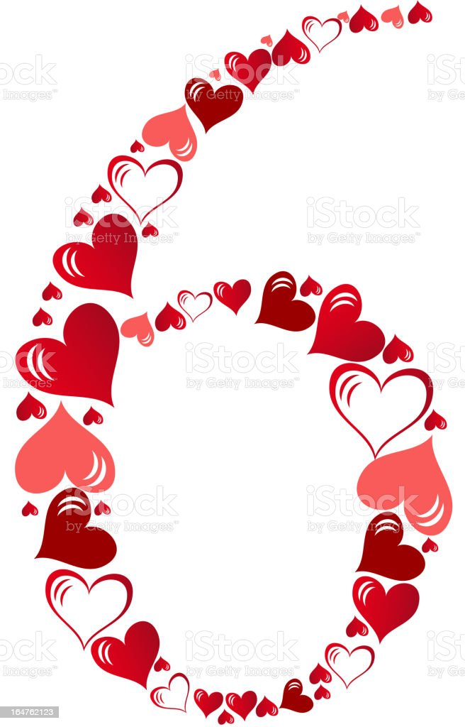 Number of hearts vector illustration royalty-free stock vector art