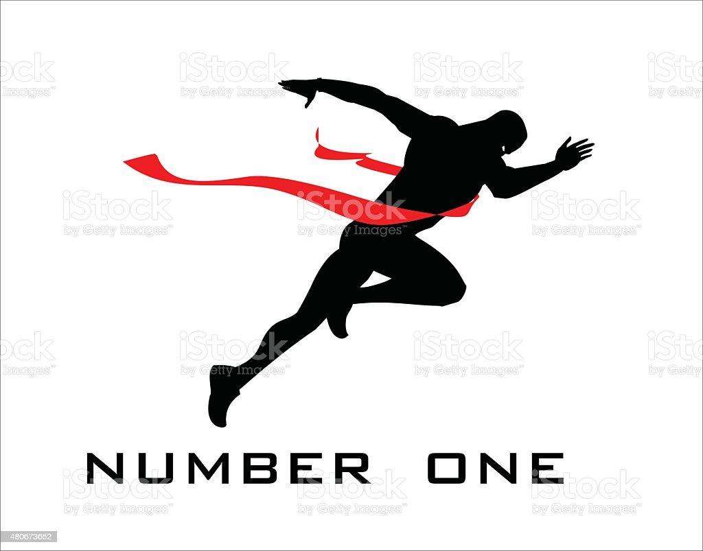 number one, finish line, winner. vector art illustration