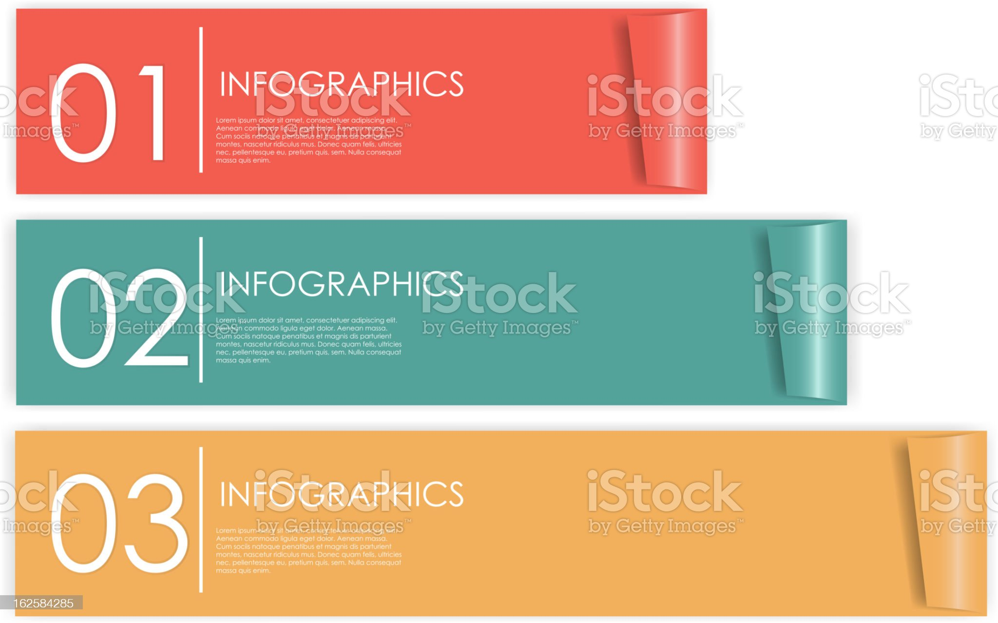 Numbered infographics banner design royalty-free stock vector art
