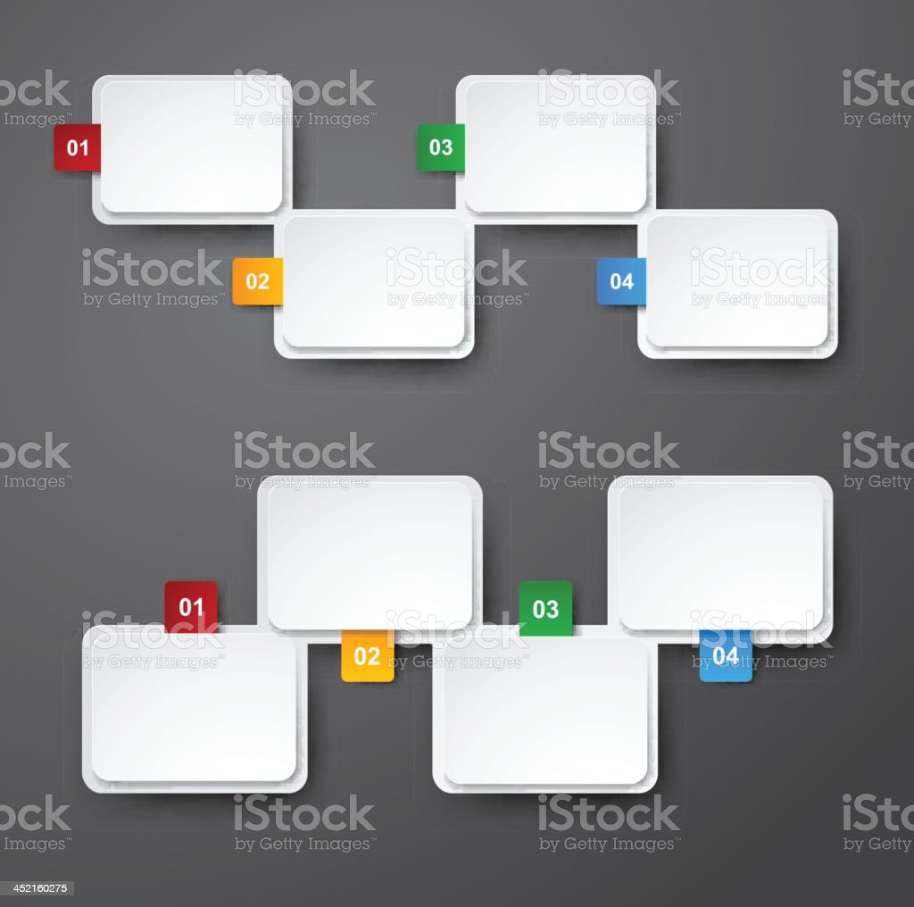 Numbered infographics list design. royalty-free stock vector art
