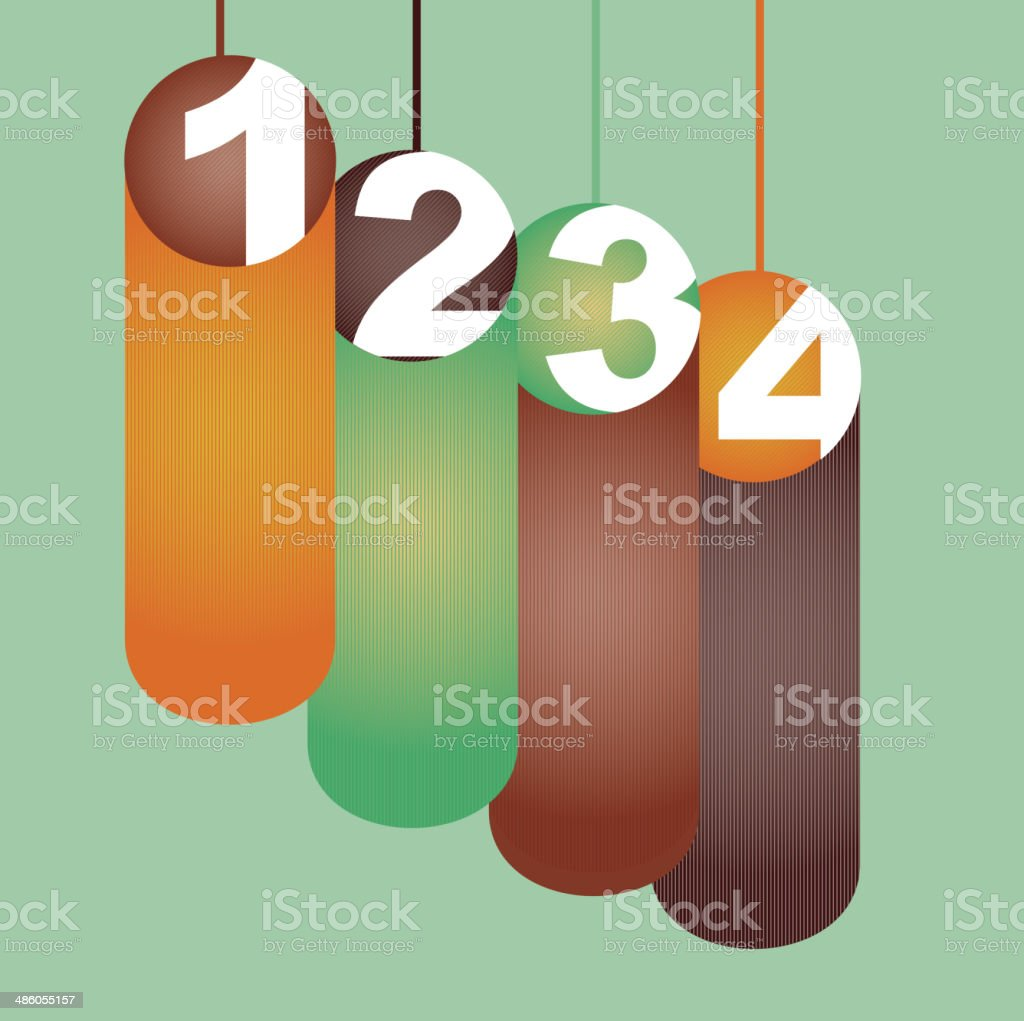 numbers design royalty-free stock vector art
