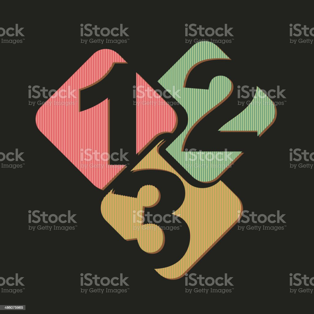 numbers design vector art illustration