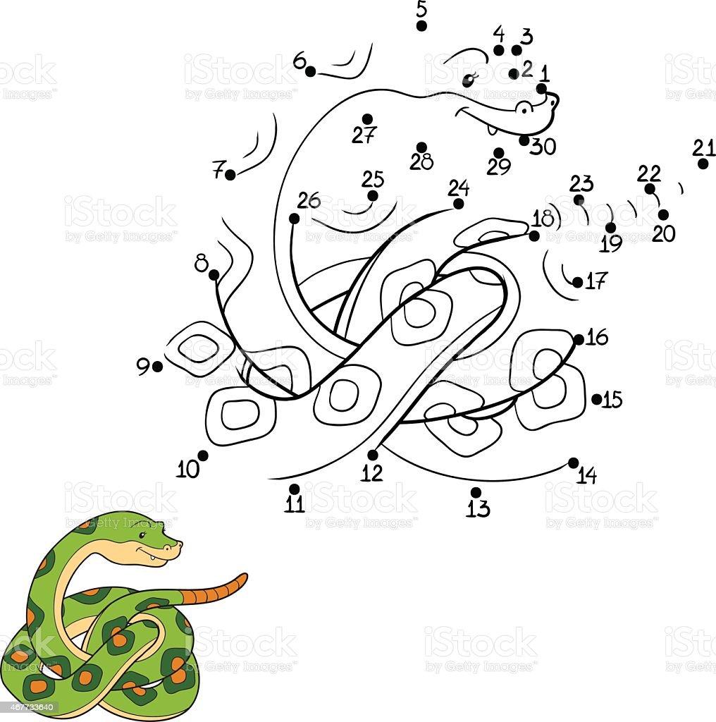 Numbers game (snake) vector art illustration