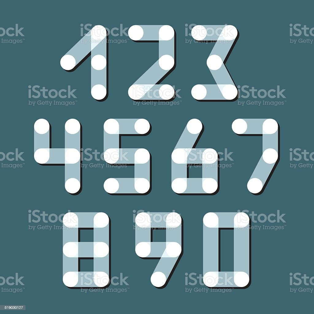 Numbers set modern style. Icons. Vector illustration. vector art illustration