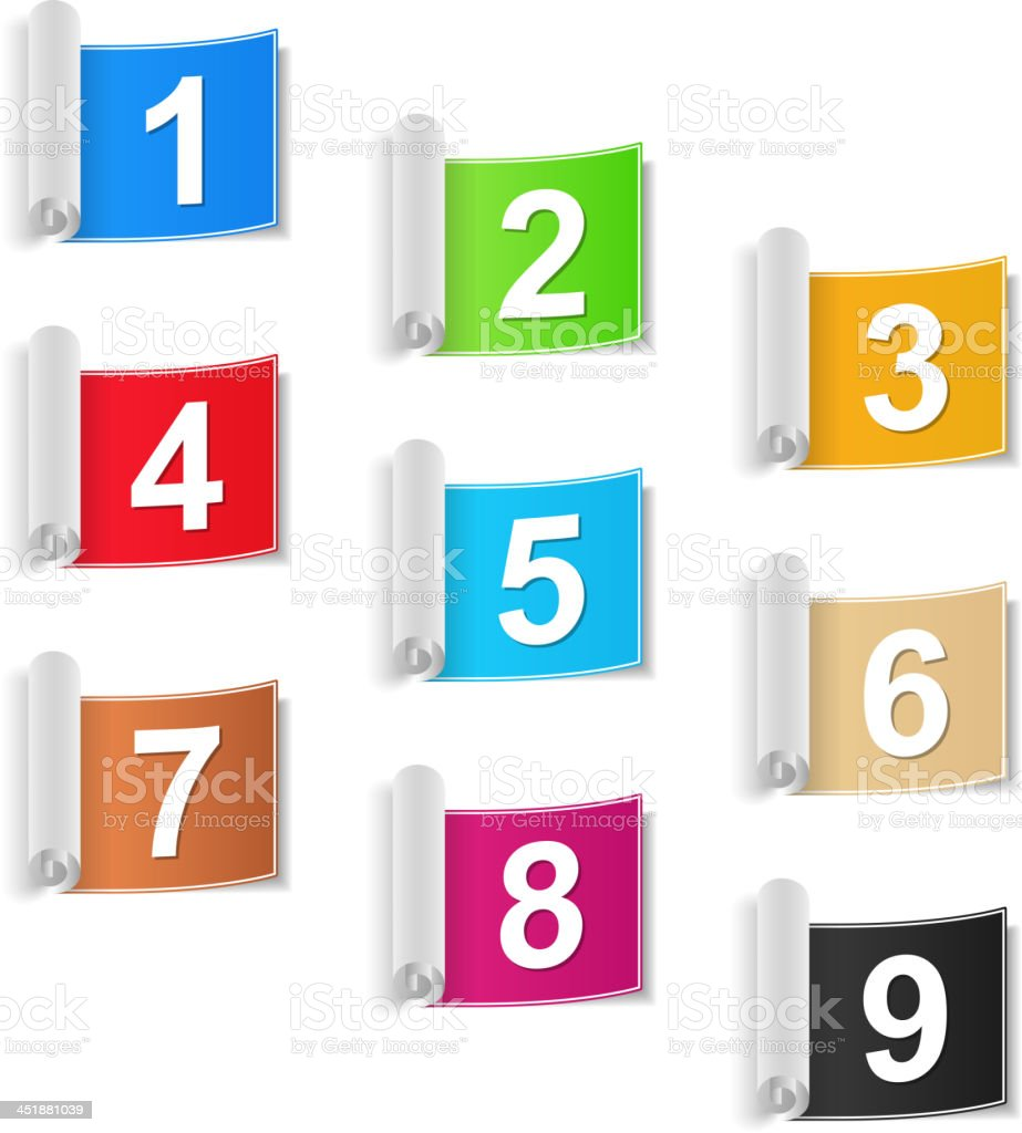 Numbers Set royalty-free stock vector art