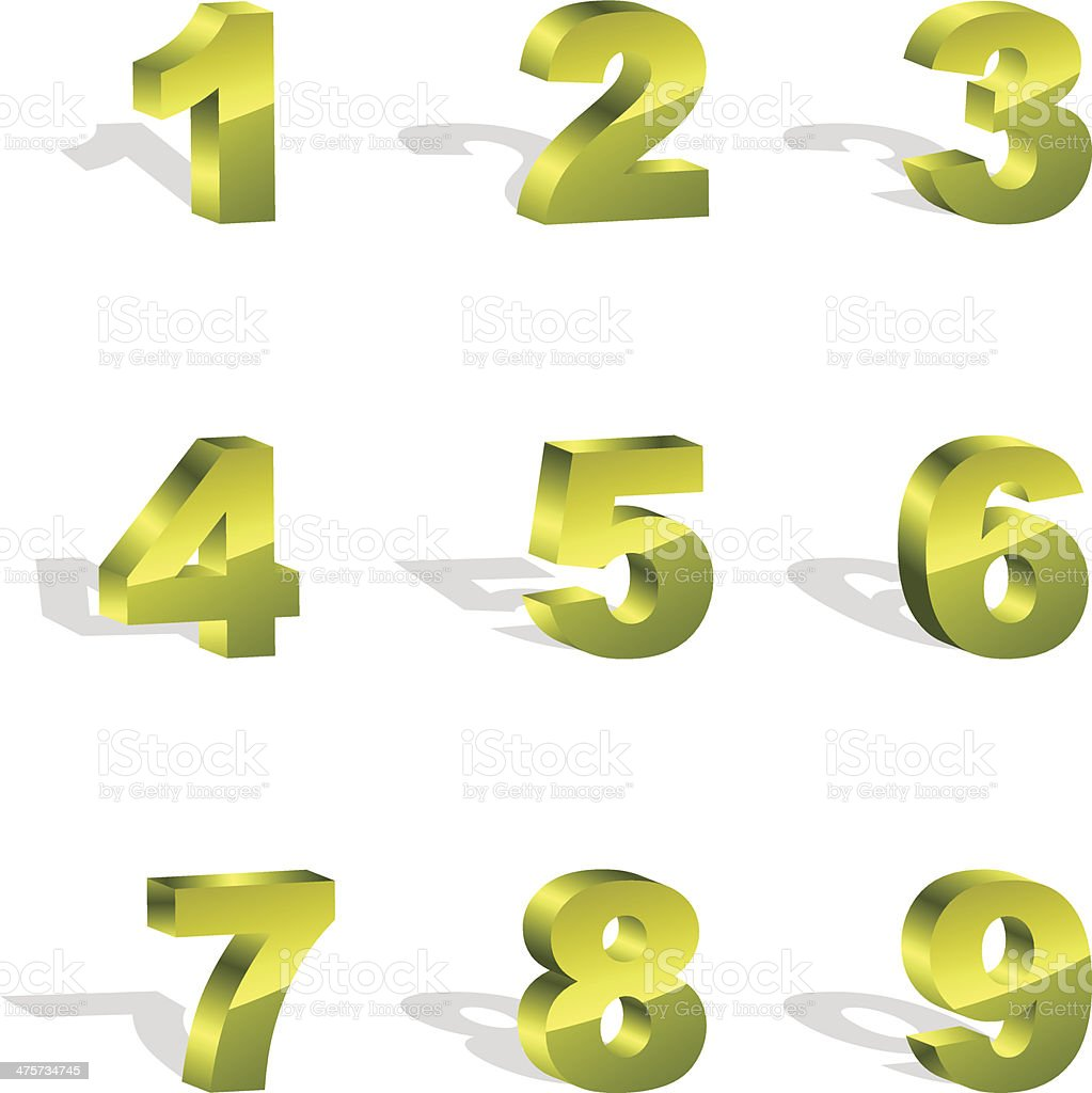 Numbers. royalty-free stock vector art