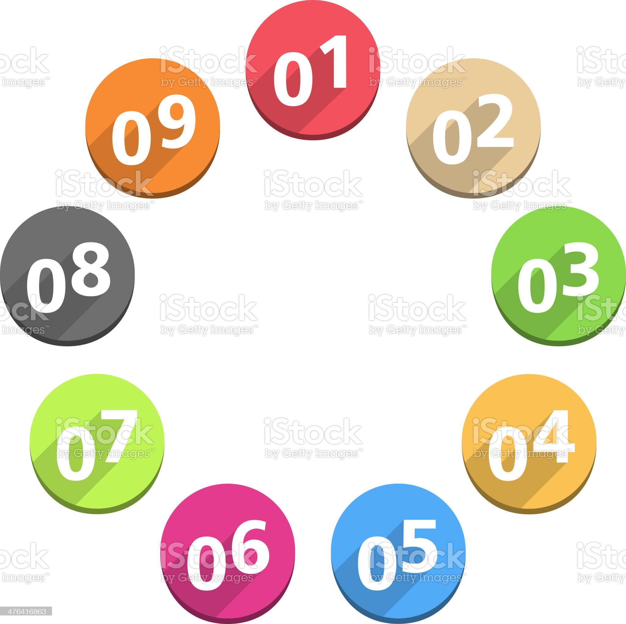 Numbers royalty-free stock vector art