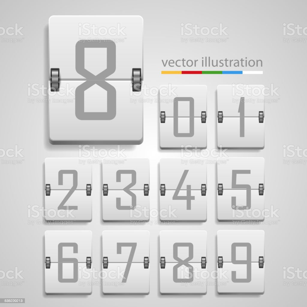 Numeric scoreboard. Vector vector art illustration