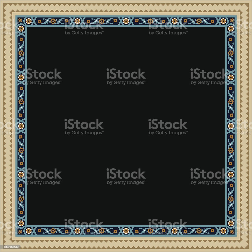Nur Floral Frame royalty-free stock vector art