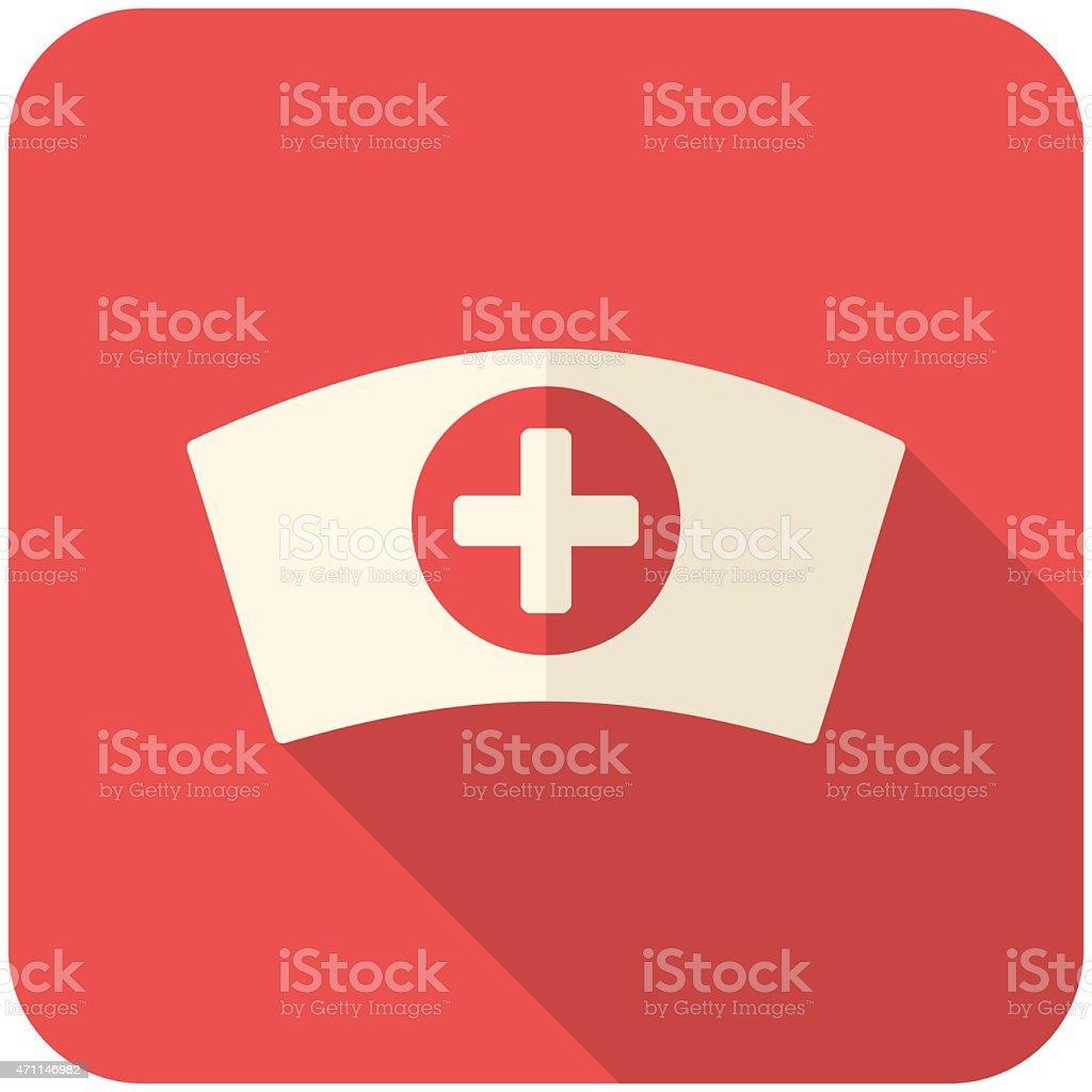 Nurse cap icon vector art illustration