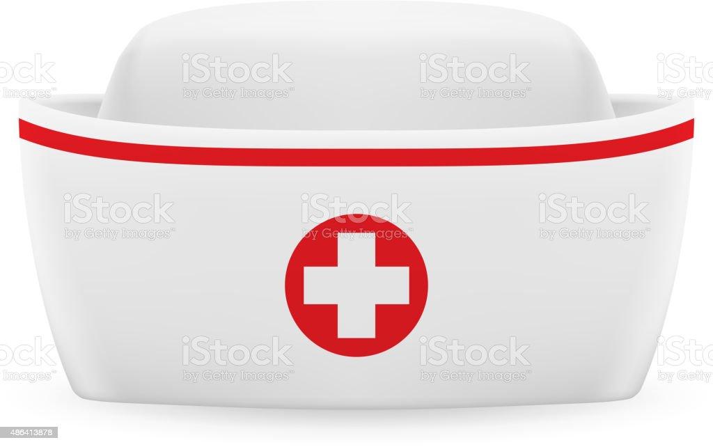 Nurse cap vector art illustration