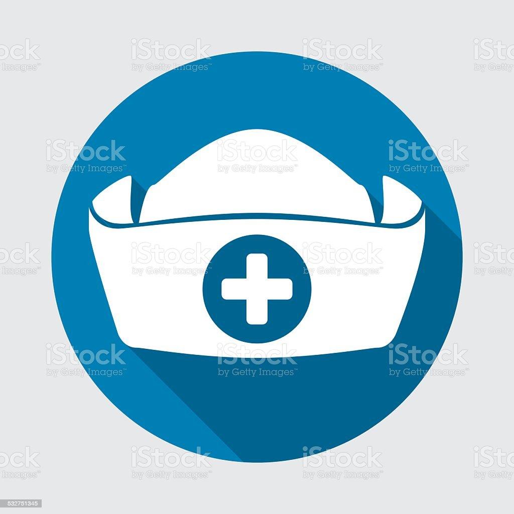 nurse hat vector art illustration