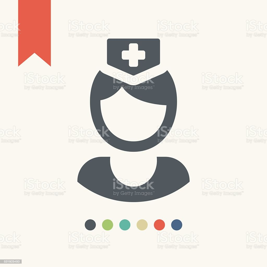 Nurse icon vector art illustration