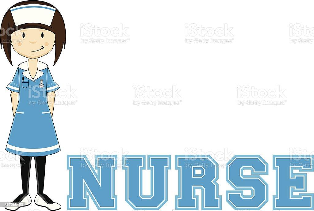 Nurse Learn to Read Illustration royalty-free stock vector art
