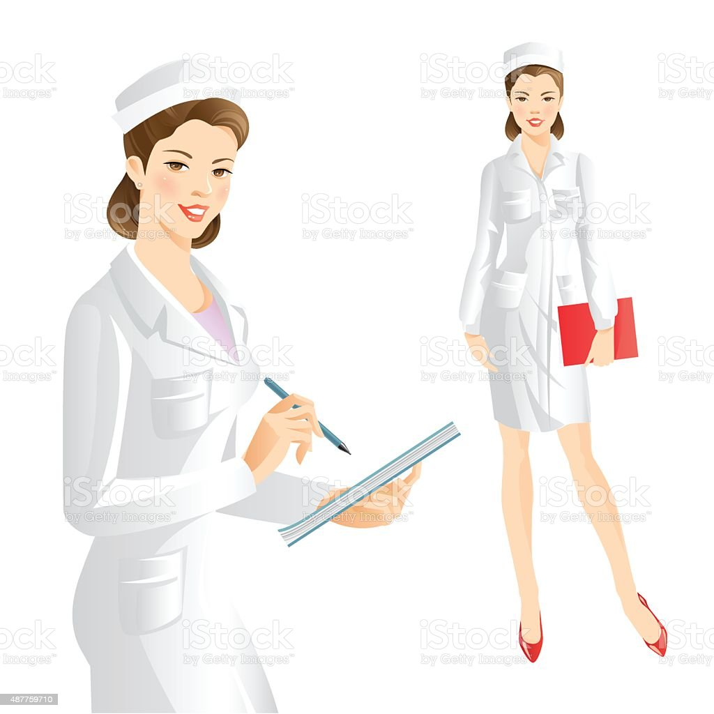 Nurse or doctor vector art illustration