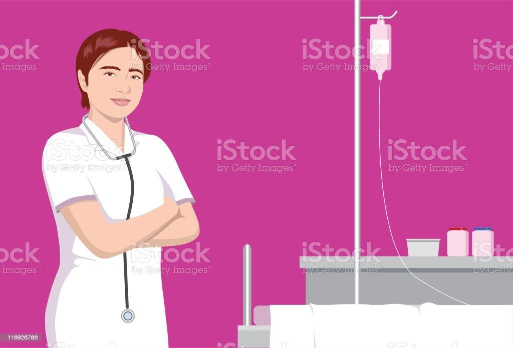 Nurse vector art illustration