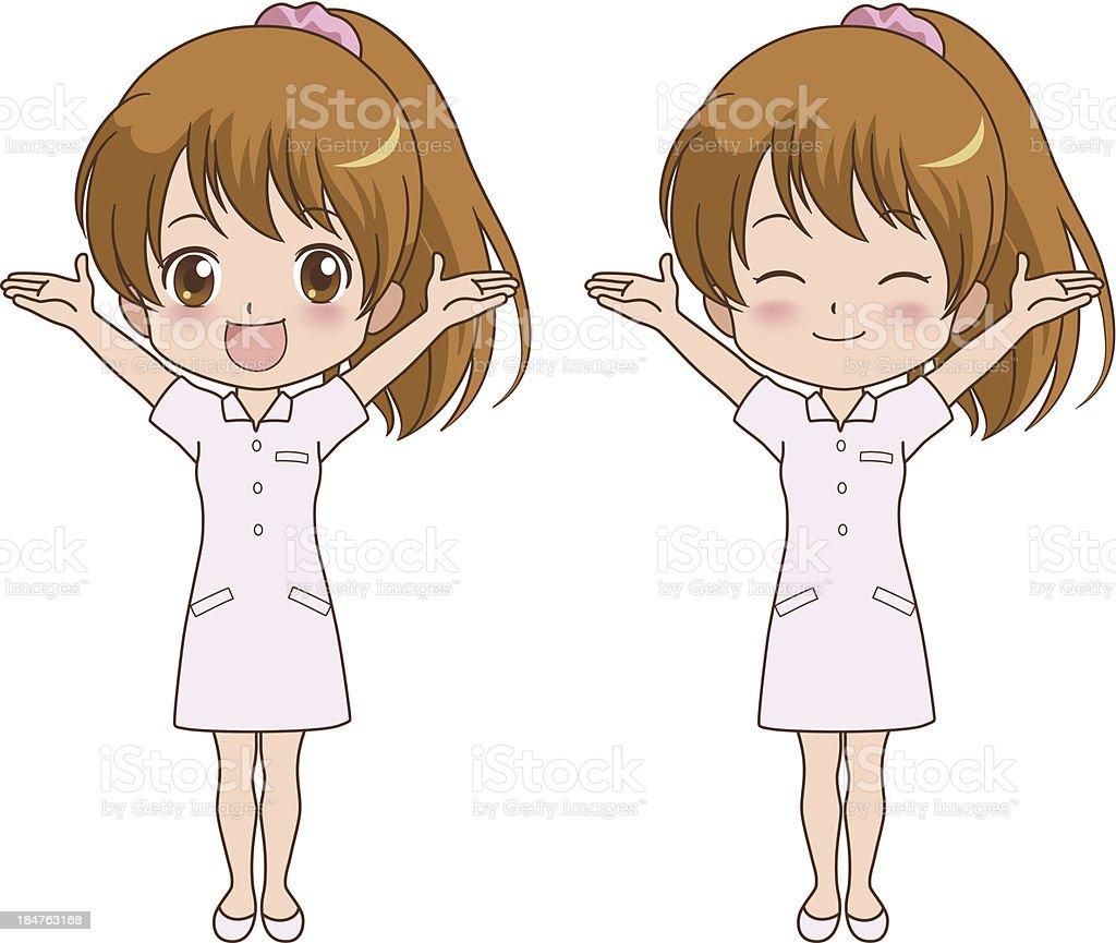 nurse_happy royalty-free stock vector art