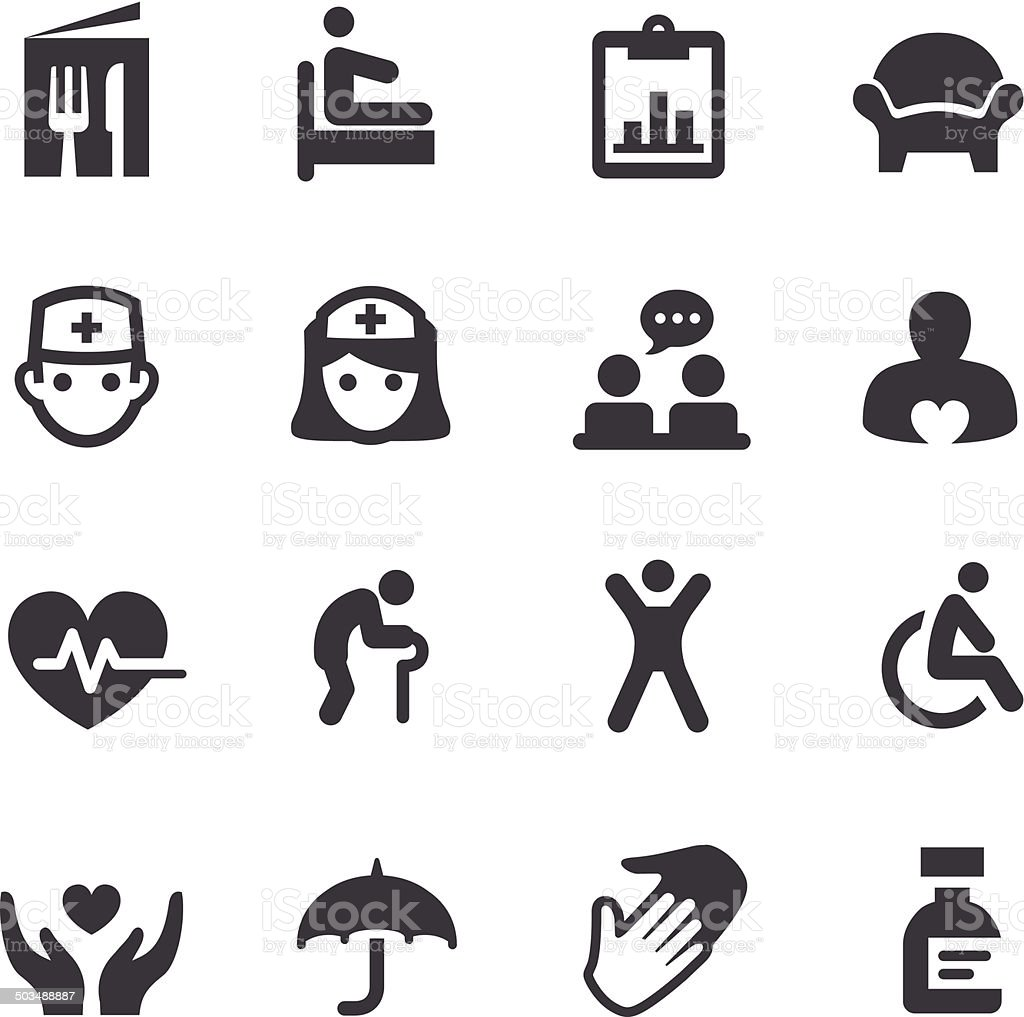 Nursing Home Icons - Acme Series vector art illustration