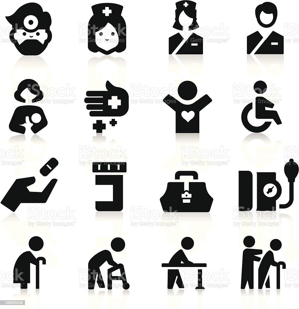 Nursing Icons vector art illustration