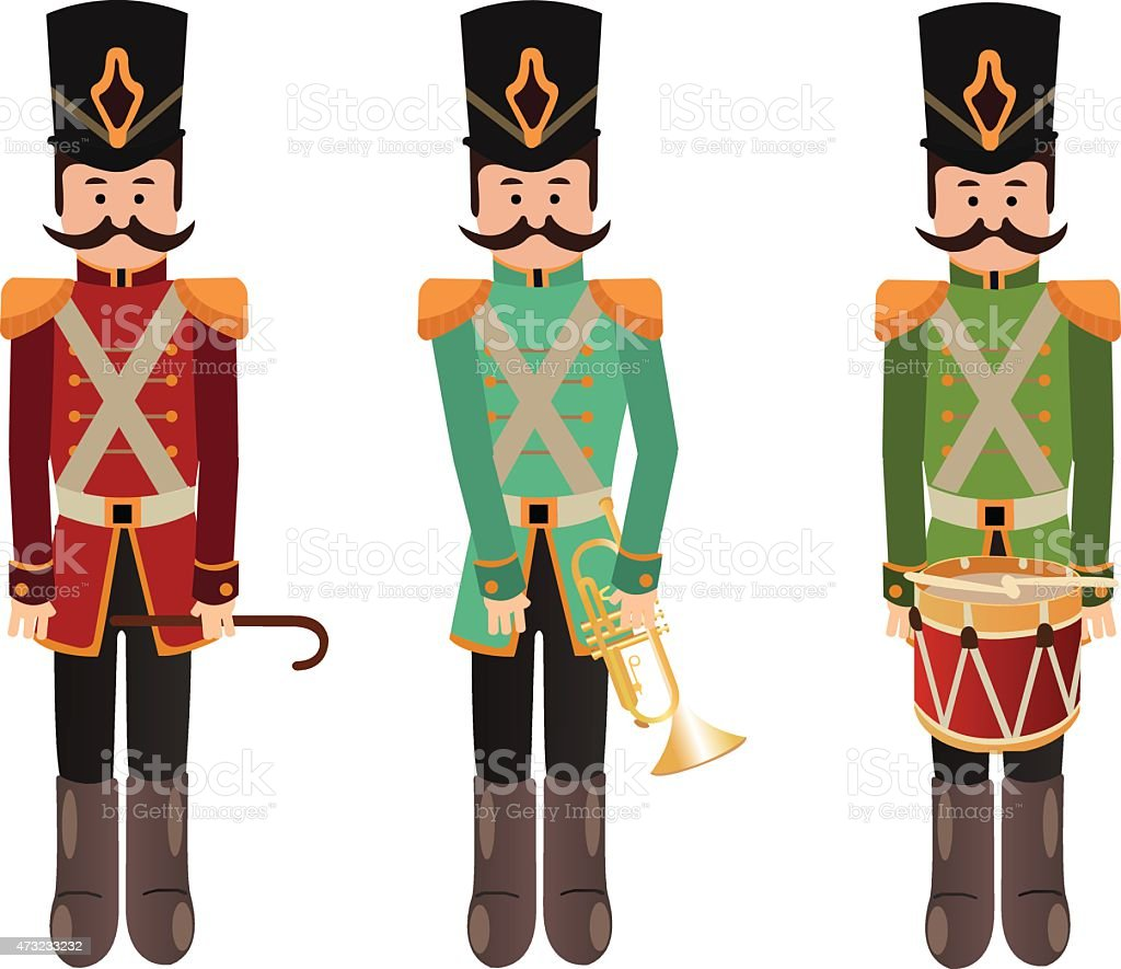 Nut crackers vector art illustration