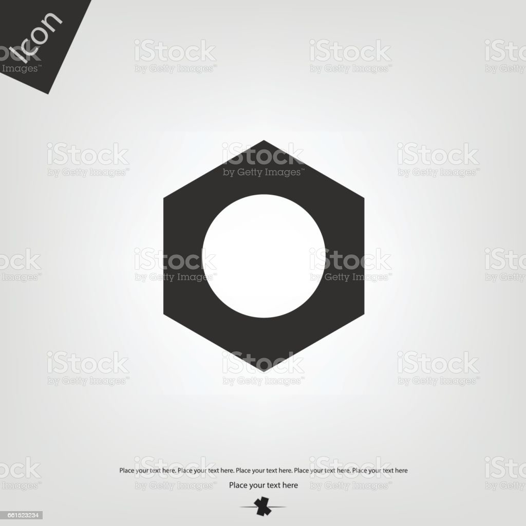 Nut icon vector art illustration