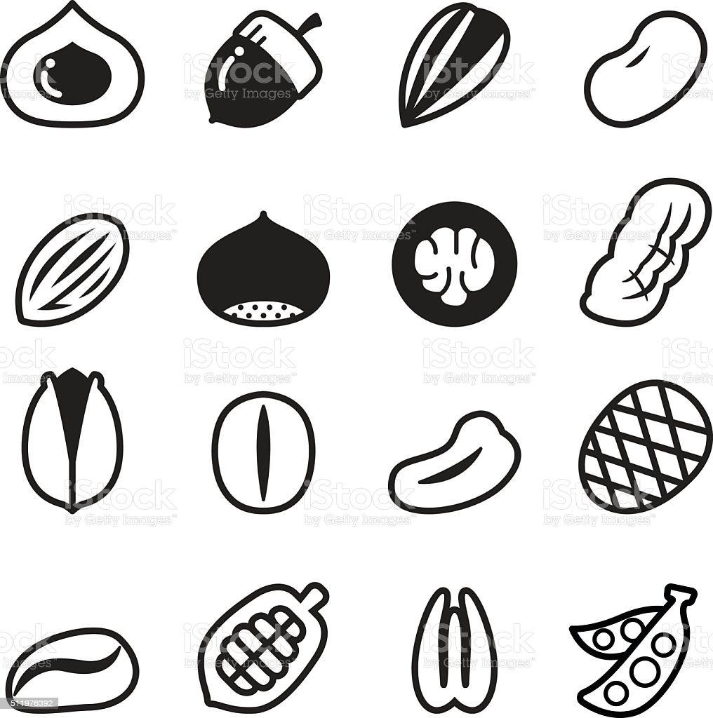 Nut icons Vector illustration Set 2 vector art illustration