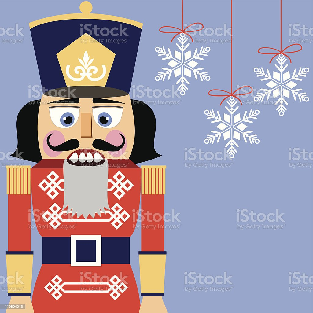 Nutcracker background vector art illustration