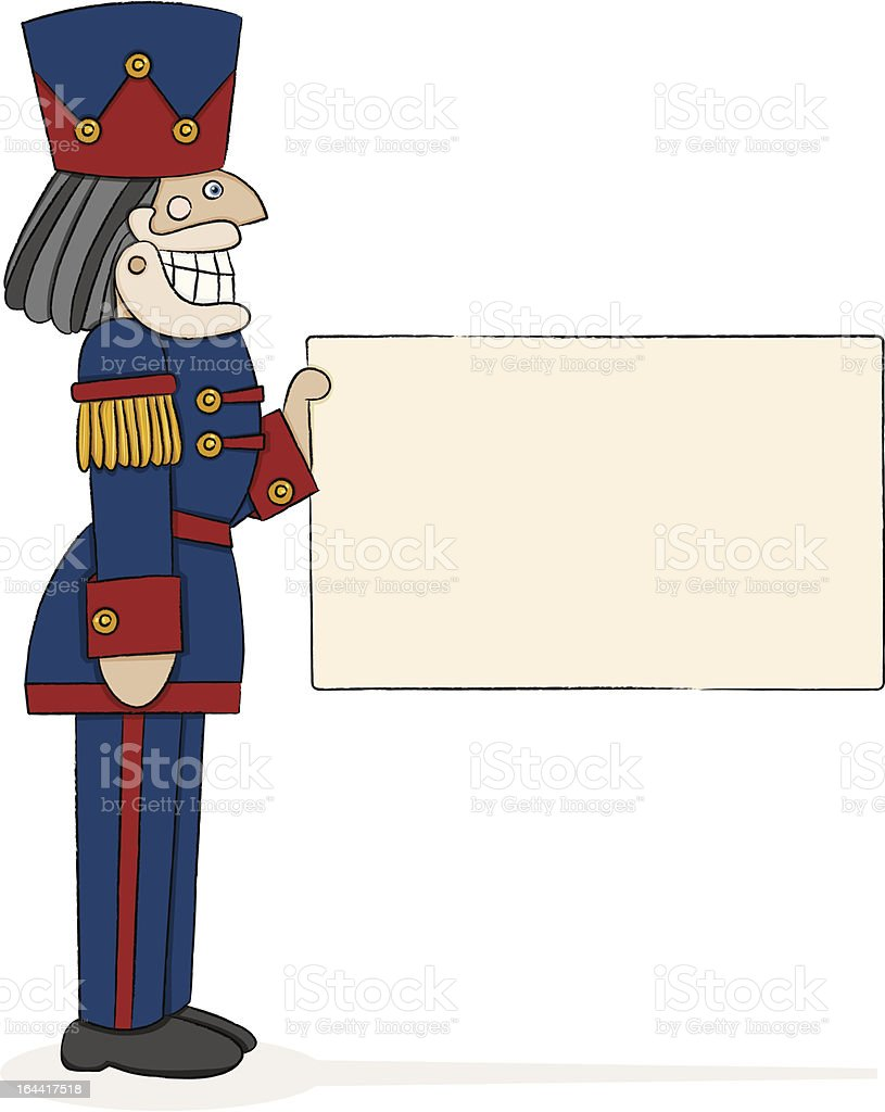 Nutcracker Captain royalty-free stock vector art