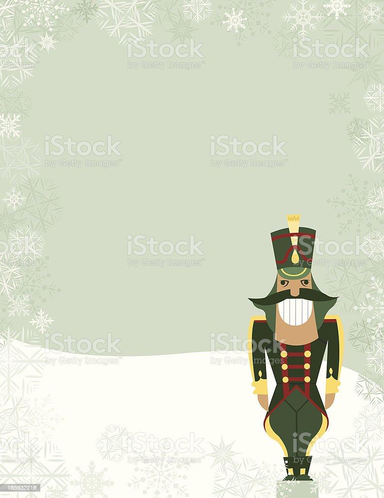 Nutcracker - Holiday Background royalty-free stock vector art