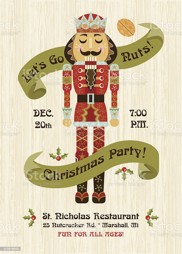 Nutcracker Invitation vector art illustration