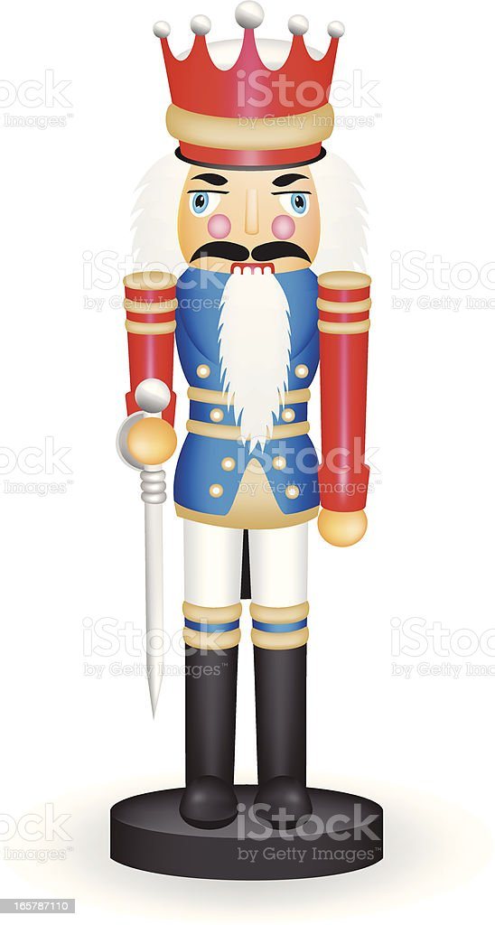 Nutcracker Toy Soldier vector art illustration