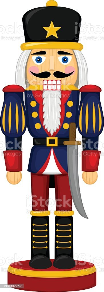 Nutcracker vector art illustration