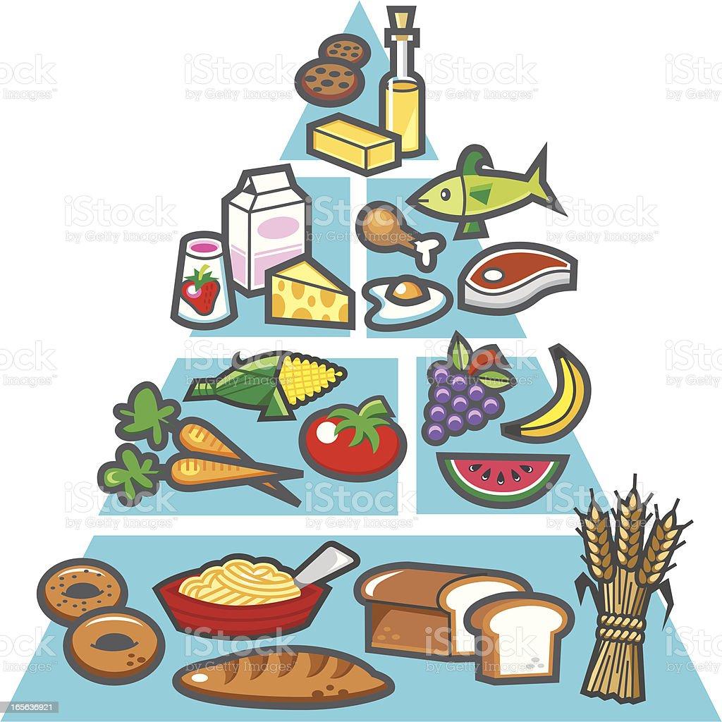 nutrition chart vector art illustration