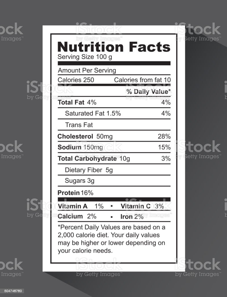 nutrition fact design vector art illustration