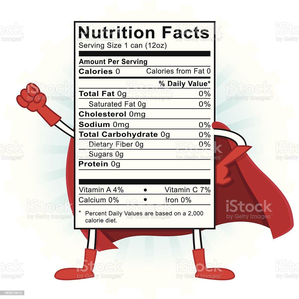 Nutrition Superhero vector art illustration