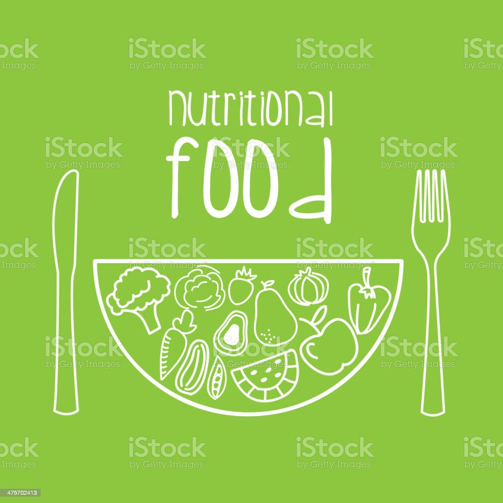Nutritional Food royalty-free stock vector art