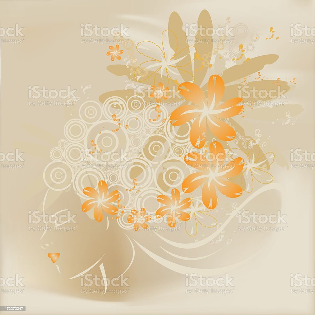 Ninfa royalty-free stock vector art