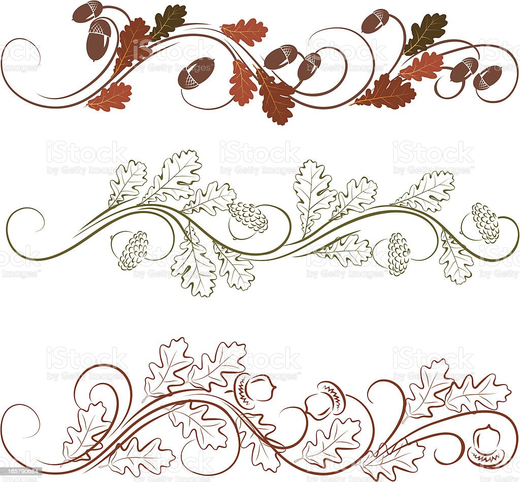 Oak leaves ornament royalty-free stock vector art