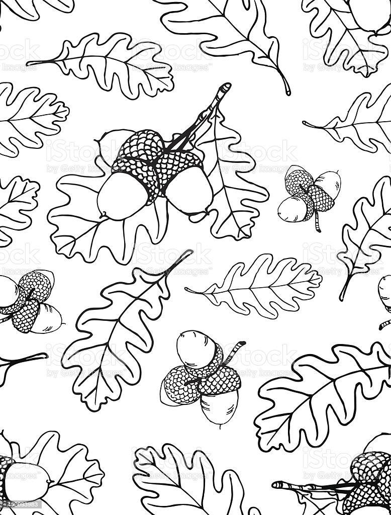 Oak pattern royalty-free stock vector art