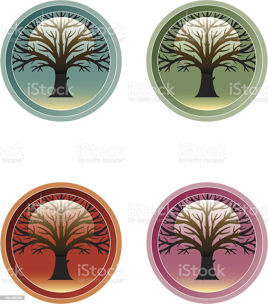 Oak tree icon royalty-free stock vector art