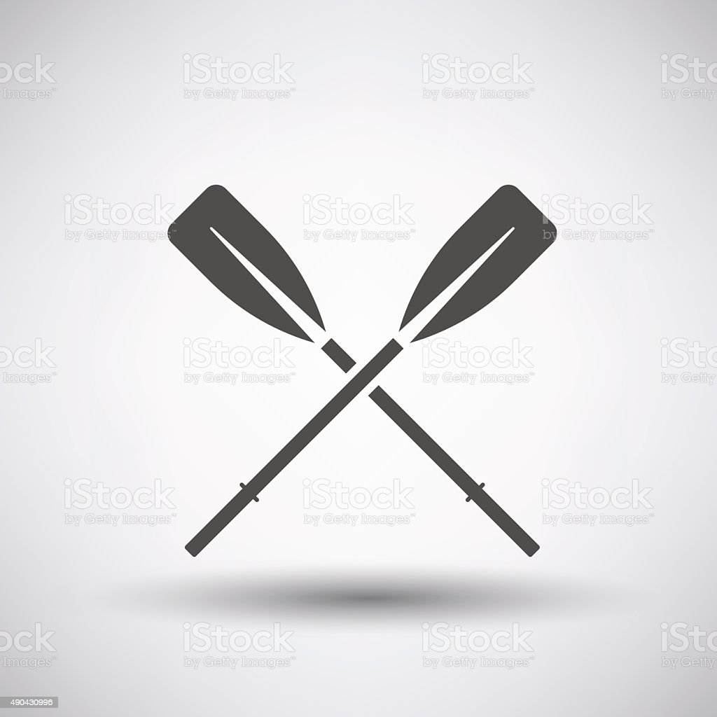 Oars Icon vector art illustration
