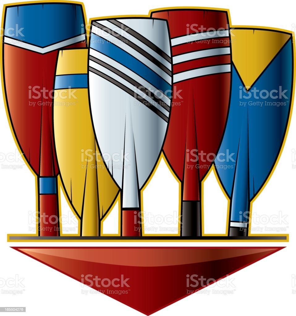 Oars royalty-free stock vector art