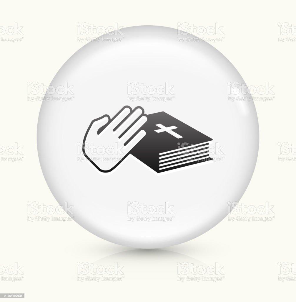 Oath icon on white round vector button vector art illustration